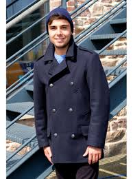 fitted pea coat for men made of wool bilbao