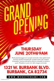 bar grand opening flyer create grand opening flyers in minutes postermywall
