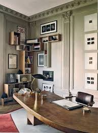 stefano pilatis office in paris charlotte perriands massive wood desk and bedroommarvellous office chairs bones furniture company