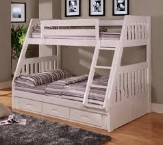 White Twin over Full Bunk Bed Discovery Furniture