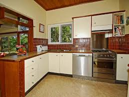 image of simple l shaped kitchen layout