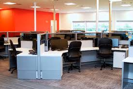 Cubicle office design Privacy There Are Four Primary Types Of Office Layouts Open Office Layouts Office Spaces With Architectural Dividers Rows Of Cubicles And Private Offices Logintinfoclub From