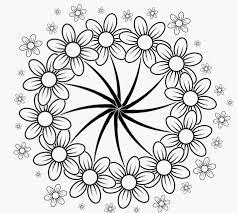 Kleurplaten Lente Bloemen Afbeelding Bloemen Kleurplaat Volwassenen