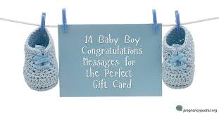 Baby Congrats Note 14 Baby Boy Congratulations Messages For The Perfect Gift Card