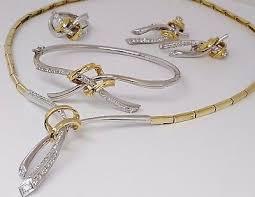 italy 18k two tone gold 2 5 ct diamond