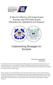 Strategic Plan Impressive Auxiliary And Active Duty Coast Guard Strategic Plan Initiative