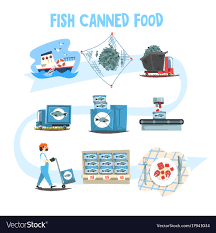 Fish Canned Food Set Fish Industry Canned Process