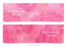 pink pattern vector art 11061 s pink watercolor banners vector