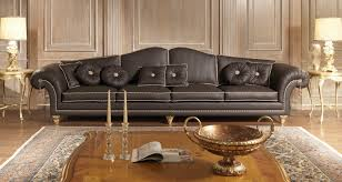 Luxury sofas in leather: classic style, modern beauty