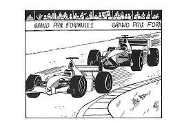 Kleurplaat Ferrari Formule 1 Malvorlage Formel 1 Rennauto Ausmalbild