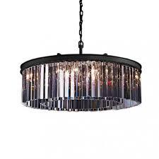 rh rhys clear glass prism round crystal chandelier