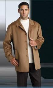 wool cashmere blend camel hair topcoat overcoat with notch lapel