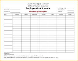 Free Weekly Schedule Template Excel Employee Work Schedule Template Excel Multiple Free Weekly