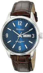 armitron 20 5048nvsvbn mens day date function brown croco grain armitron men s 20 5048 day date function dial croco grain leather strap watch