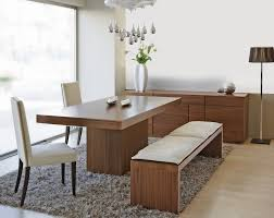 Solid Wood Modern Dining Table Dining Table Design Dining Table Bench With Backrest Dining