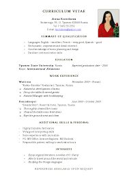 how to write your own resume curriculum vitae