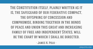 The Constitution Itself Plainly Written As It Is The