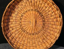 wicker basket tray round wicker deep tray baskets by basket rattan basket tray