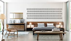 Rondo Modern Walnut Bedroom Set