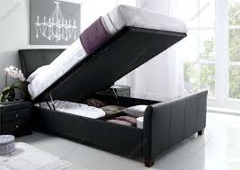 Ottoman Bedroom Kaydian Allendale Leather Ottoman Storage Bed Black Kaydian