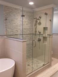 this is a rain glass style steam shower door with a moveable transom to allow for ventilation