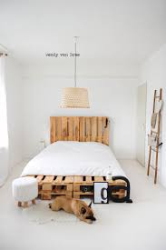 ... Good Looking Bedroom Decoration Using Shipping Pallet Bed Frame : Foxy  Image Of Bedroom Decoration Using ...