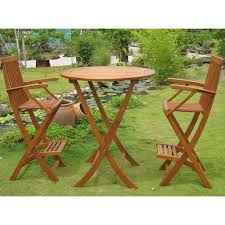 teak bistro table and chairs. Contemporary Outdoor Folding Dining Features Oak Teak Wood Height Bar Bistro Table Set Including Solid Tall And Chairs