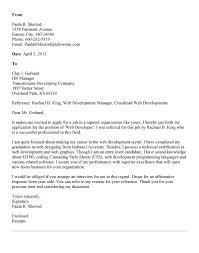 Cover Letter Sample For Hr Position Inspiration Web Development Manager Cover Letter Developer Cute Designer Sample