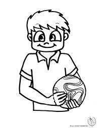 Disegno Bambino Con Pallone Disegni Da Colorare E Stampare Gratis