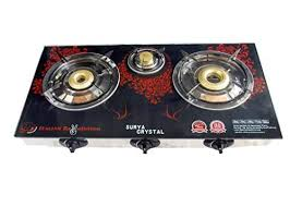 Buy Gas Stove 3 Burner Surya Crystal Automatic Features Price