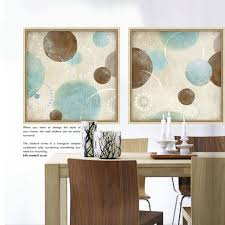 light blue beige and brown circles modern abstract painting canvas wall art decorative artist for on blue brown wall art with light blue beige and brown circles modern abstract painting canvas