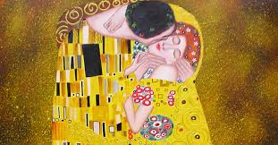 buddha painting thai contemporary art klimt the kiss painting