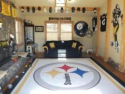 steelers man cave room ideas and rug