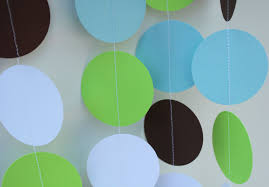 Blue And Green Decor Boy Birthday Decorations Paper Garland Party Decor Light
