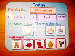 Weather Wear Calendar Pdf Routine Organiser Printable File Free Printable Folder Games For ToddlerslllL