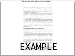 Informative Good Topics For Speeches To Inform High School Students ...