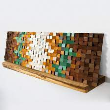 wood wall art spring time abstract wood