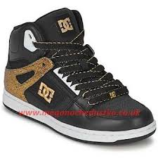 dc shoes high tops black and gold. dc shoes rebound high se womens top trainers in black gold nmrv4h 011760 tops and