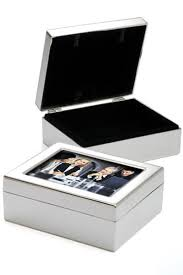 Picture Frame Box Corporate Gifts Company Silver Velvet Picture Frame Box
