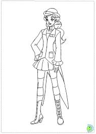 Totally Spies Coloring Page Dinokidsorg Middle