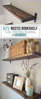 ikea furniture diy. Exellent Diy Create A Rustic Bookshelf With IKEA EKBY Brackets Click To Find Out How  DIY Intended Ikea Furniture Diy