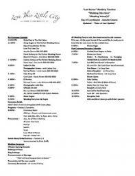 Wedding Schedule