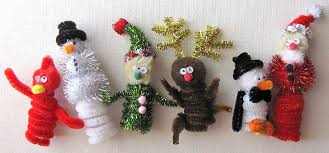 Easy Christmas Kids Crafts - Finger Puppets