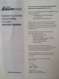 Nasm Master Trainer Letter And Gear Madsweat