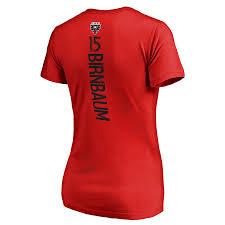 amp; D Backer Branded United Fanatics V-neck Steven Women's Birnbaum Number Name T-shirt c Red