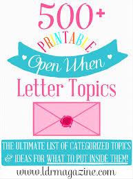 Open When Letters Template Barca Fontanacountryinn Com
