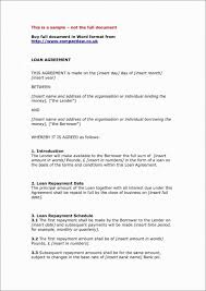 Agreement Letters Amazing Sample Agreement Letter Between Two Parties Lending Money Pdf