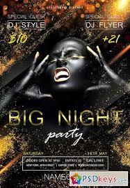 night flyer template facebook cover rar