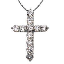cz elegant extra large cross pendant necklace in sterling silver gold boutique