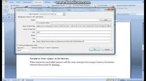 Microsoft Word 97 2003 Citations In Apa 6th Edition
